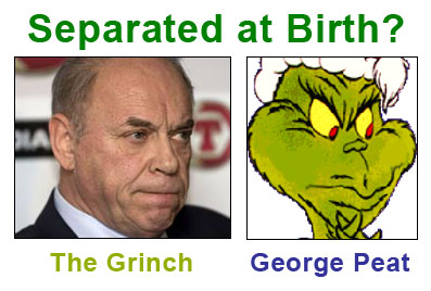 The Grinch and George Peat, Scottish Football Association (SFA) president: Separated at Birth?