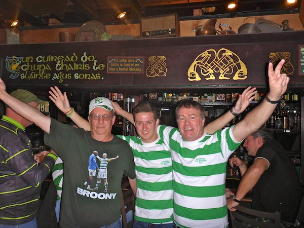 Celebrating Sevco Slaughter with Quadruple Broony