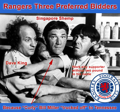 Rangers three preferred bidders after Curley Bill Miller trucked off to Tennessee (Three Stooges)